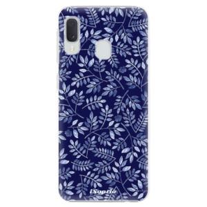 Plastové pouzdro iSaprio Blue Leaves 05 na mobil Samsung Galaxy A20e
