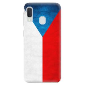 Plastové pouzdro iSaprio Česká Vlajka na mobil Samsung Galaxy A20e