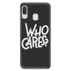 Plastové pouzdro iSaprio Who Cares na mobil Samsung Galaxy A20e