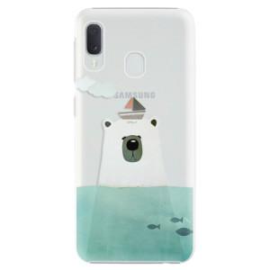 Plastové pouzdro iSaprio Medvěd s Lodí na mobil Samsung Galaxy A20e