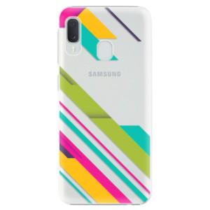 Plastové pouzdro iSaprio Barevné Pruhy 03 na mobil Samsung Galaxy A20e