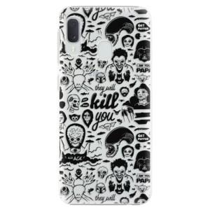 Plastové pouzdro iSaprio Komiks 01 black na mobil Samsung Galaxy A20e
