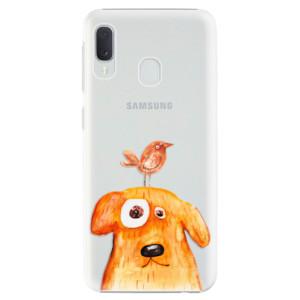 Plastové pouzdro iSaprio Pejsek a Ptáček na mobil Samsung Galaxy A20e
