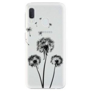 Plastové pouzdro iSaprio Tři Černé Pampelišky na mobil Samsung Galaxy A20e