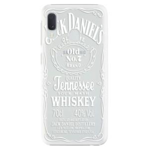Plastové pouzdro iSaprio Transparentí White Jack  na mobil Samsung Galaxy A20e