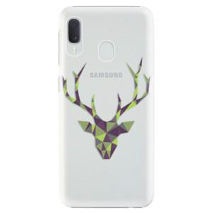 Plastové pouzdro iSaprio Zelený Jelínek na mobil Samsung Galaxy A20e