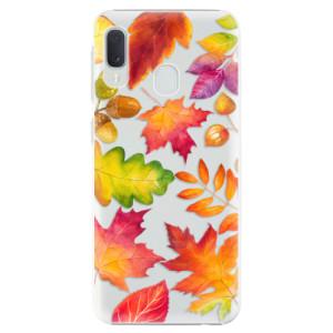 Plastové pouzdro iSaprio Podzimní Lístečky na mobil Samsung Galaxy A20e