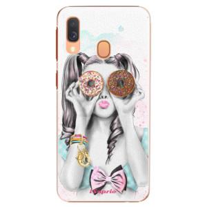 Plastové pouzdro iSaprio Donutky Očiska 10 na mobil Samsung Galaxy A40