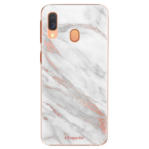 Plastové pouzdro iSaprio RoseGold Marble 11 na mobil Samsung Galaxy A40
