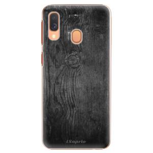 Plastové pouzdro iSaprio Black Wood 13 na mobil Samsung Galaxy A40