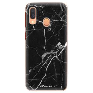 Plastové pouzdro iSaprio Black Marble 18 na mobil Samsung Galaxy A40
