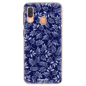 Plastové pouzdro iSaprio Blue Leaves 05 na mobil Samsung Galaxy A40
