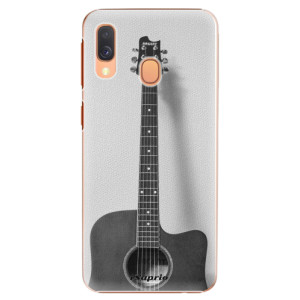 Plastové pouzdro iSaprio BW Kytara 01 na mobil Samsung Galaxy A40