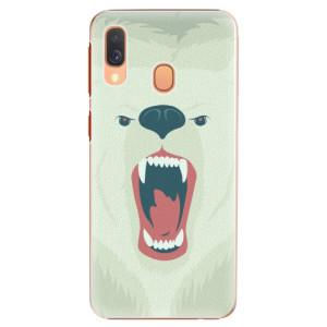 Plastové pouzdro iSaprio Naštvanej Medvěd na mobil Samsung Galaxy A40