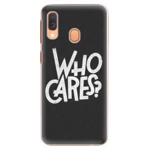 Plastové pouzdro iSaprio Who Cares na mobil Samsung Galaxy A40