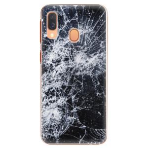 Plastové pouzdro iSaprio Praskliny na mobil Samsung Galaxy A40