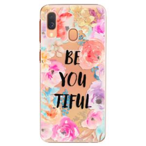 Plastové pouzdro iSaprio BeYouTiful na mobil Samsung Galaxy A40