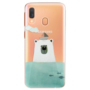 Plastové pouzdro iSaprio Medvěd s Lodí na mobil Samsung Galaxy A40