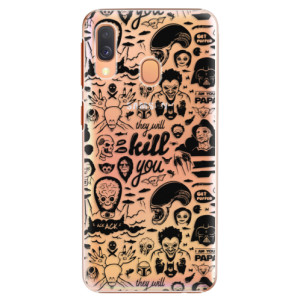 Plastové pouzdro iSaprio Komiks 01 black na mobil Samsung Galaxy A40