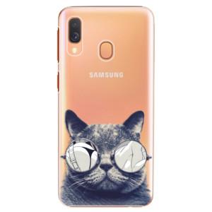 Plastové pouzdro iSaprio Šílená Číča 01 na mobil Samsung Galaxy A40