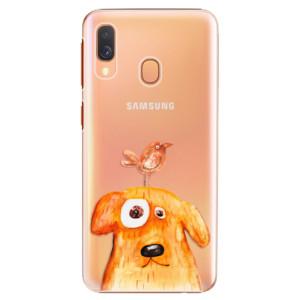 Plastové pouzdro iSaprio Pejsek a Ptáček na mobil Samsung Galaxy A40