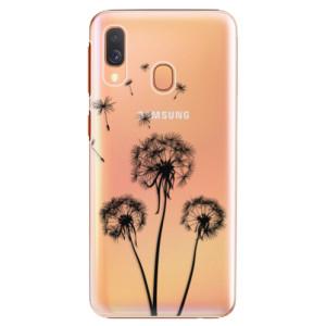 Plastové pouzdro iSaprio Tři Černé Pampelišky na mobil Samsung Galaxy A40