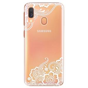 Plastové pouzdro iSaprio Bílá Krajka 02 na mobil Samsung Galaxy A40