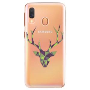 Plastové pouzdro iSaprio Zelený Jelínek na mobil Samsung Galaxy A40