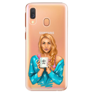 Plastové pouzdro iSaprio Coffee Now Zrzka na mobil Samsung Galaxy A40