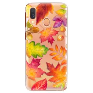 Plastové pouzdro iSaprio Podzimní Lístečky na mobil Samsung Galaxy A40