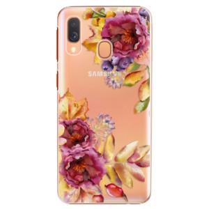 Plastové pouzdro iSaprio Podzimní Květiny na mobil Samsung Galaxy A40