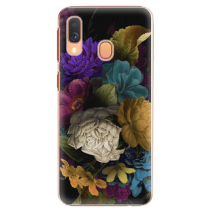 Plastové pouzdro iSaprio Temné Květy na mobil Samsung Galaxy A40