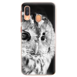 Plastové pouzdro iSaprio BW Sova na mobil Samsung Galaxy A40