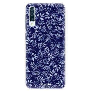 Plastové pouzdro iSaprio Blue Leaves 05 na mobil Samsung Galaxy A50