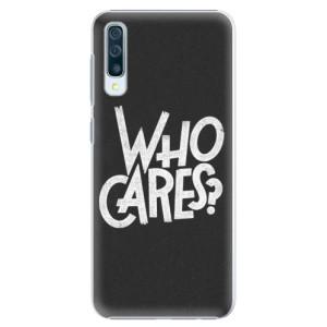 Plastové pouzdro iSaprio Who Cares na mobil Samsung Galaxy A50