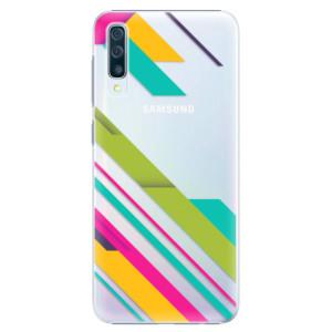 Plastové pouzdro iSaprio Barevné Pruhy 03 na mobil Samsung Galaxy A50