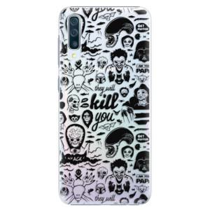 Plastové pouzdro iSaprio Komiks 01 black na mobil Samsung Galaxy A50