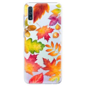 Plastové pouzdro iSaprio Podzimní Lístečky na mobil Samsung Galaxy A50