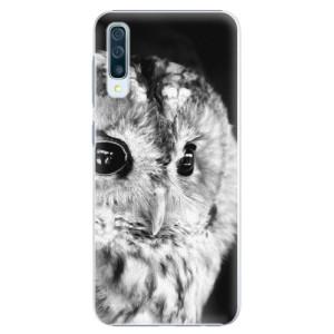 Plastové pouzdro iSaprio BW Sova na mobil Samsung Galaxy A50