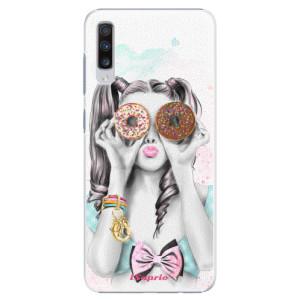 Plastové pouzdro iSaprio Donutky Očiska 10 na mobil Samsung Galaxy A70