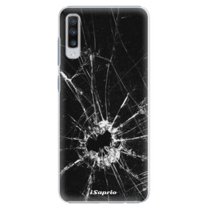 Plastové pouzdro iSaprio Broken Glass 10 na mobil Samsung Galaxy A70