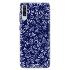 Plastové pouzdro iSaprio Blue Leaves 05 na mobil Samsung Galaxy A70