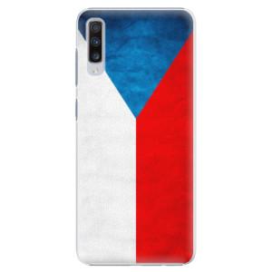 Plastové pouzdro iSaprio Česká Vlajka na mobil Samsung Galaxy A70