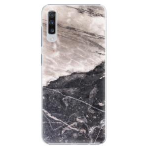 Plastové pouzdro iSaprio BW Mramor na mobil Samsung Galaxy A70