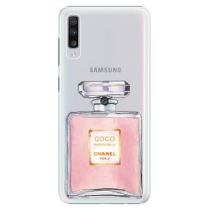 Plastové pouzdro iSaprio Chanel Rose na mobil Samsung Galaxy A70