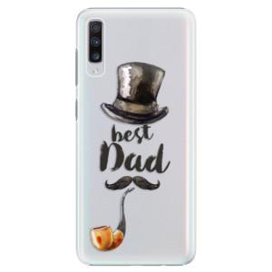 Plastové pouzdro iSaprio Best Dad na mobil Samsung Galaxy A70