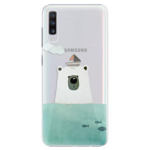 Plastové pouzdro iSaprio Medvěd s Lodí na mobil Samsung Galaxy A70
