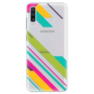 Plastové pouzdro iSaprio Barevné Pruhy 03 na mobil Samsung Galaxy A70