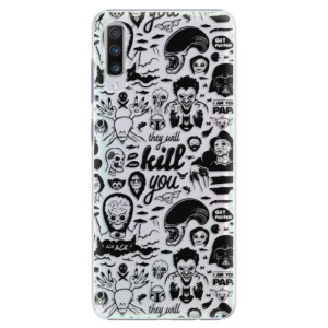 Plastové pouzdro iSaprio Komiks 01 black na mobil Samsung Galaxy A70
