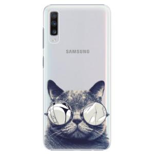 Plastové pouzdro iSaprio Šílená Číča 01 na mobil Samsung Galaxy A70